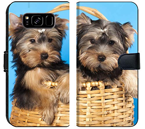 Terrier Body (Samsung Galaxy S8 Plus Flip Fabric Wallet Case IMAGE ID: 11412234 puppies of breed Yorkshire Terrier)