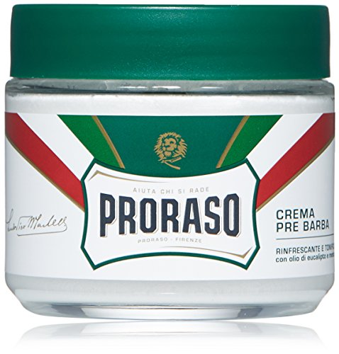 (Proraso Pre-Shave Cream, Refreshing and Toning, 3.6 Oz)