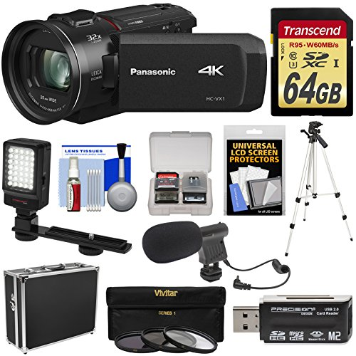 Panasonic HC-VX1 Wi-Fi 4K Ultra HD Video Camera Camcorder wi