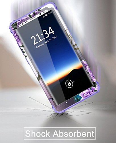 Samsung Galaxy Note 8 case,PIXIU Heavy Duty Protection Shock-Absorption&Anti-Scratch Hybrid Dual-Layer phone cases for Samsung Galaxy Note 8 2017 Realeased (peafowl /Purple) Photo #7