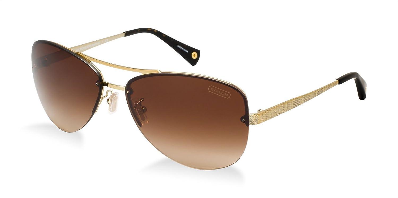 33d7fc453b94 Amazon.com: Coach Hc 7026 Jasmine Women's Brown/Gold Sunglasses, 909913,  59mm: Clothing