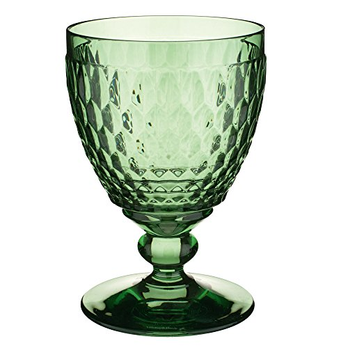 Green Glass Goblet - Boston Wine Goblet Set of 4 by Villeroy & Boch - Green