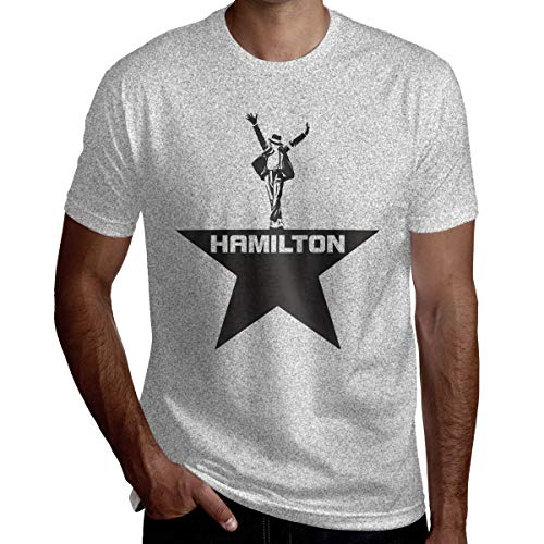 Musicals Hamilton Men's ComfortSoft Active Athletic Short-Sleeve Crew Neck T Shirt M Gray ()