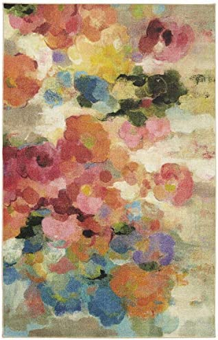 Mohawk Home Prismatic Blurred Blossoms Floral Printed Contemporary Area Rug, 8 x10 , Multicolor