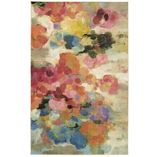 - Mohawk Home Z0256 A416 096120 EC Prismatic Blurred Blossoms Floral Printed Contemporary Area Rug 8'x10' Multicolor