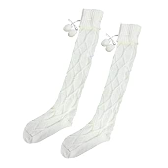 Winter Girls Ladies Women Socks Thigh High Over the Knee Socks Long Cotton Warm Sock Popular Meias Breathable Socquette Soxs (A) at Amazon Womens Clothing ...