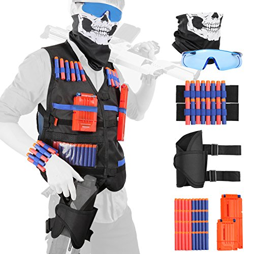 KASCIMU Tactical Vest Kit for Nerf Guns N-Strike Elite Series for Birthday and Christmas