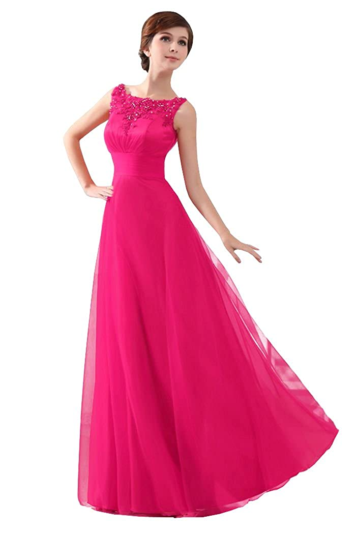 Beauty-Emily Womens Long Formal Evening Dresses Appliques Party Cocktail Mother of the Bride Gowns OB07001