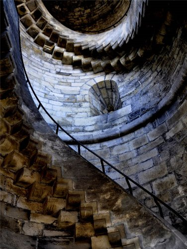 12 X 16 INCH / 30 X 40 CMS STONE STAIR CASE SPIRAL CASTLE PHOTO FINE ART PRINT POSTER HOME DECOR PICTURE BMP119B