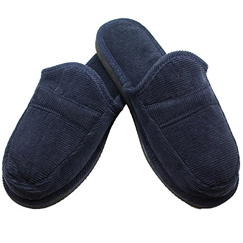 Bnc With Cushion Backless House ons Navy Slip Slippers Collection Corduroy 0qrZ0