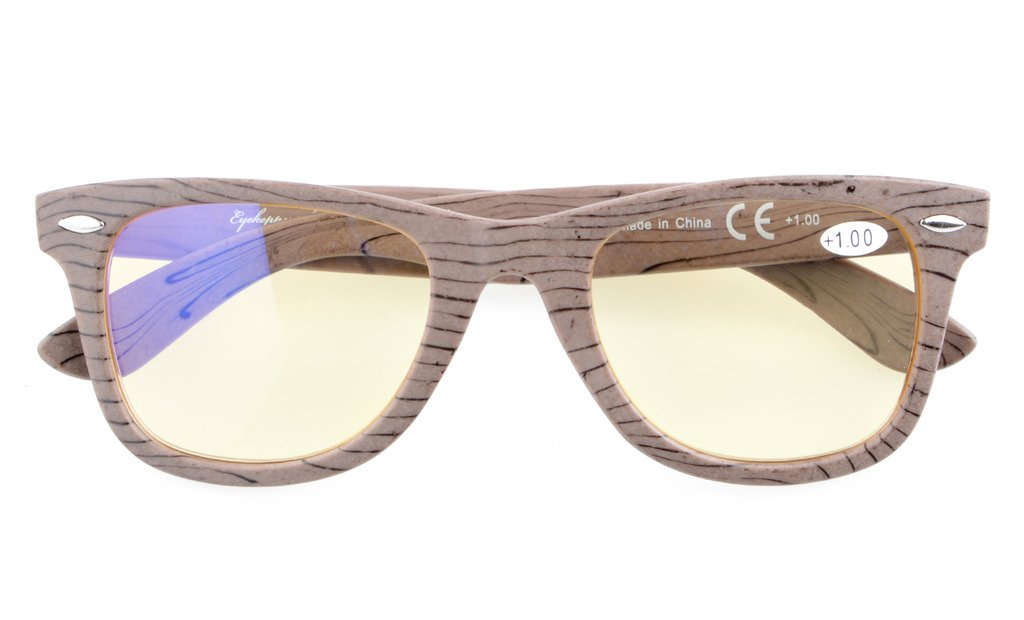 be160d206e Amazon.com  Eyekepper Readers Brown Stripe Bamboo Wood Design Classic  Computer Glasses Computer Reading Glasses +1.25  Health   Personal Care