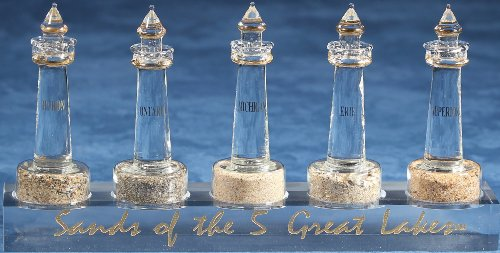 Lighthouses Of The Great Lakes Beautiful Beach Sand Collection. Unique Nautical Gift ()