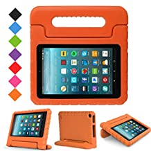 "2017 All New Fire 7 Case,Grand Sky Lightweight Shock-proof Hand-free Stand Kids Case for Amazon All New Fire 7"" Display Tablet(7th Gen 2017 Release & 5th Gen 2015 Release) (0range)"