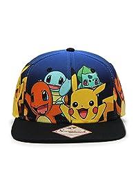 Pokemon Pikachu, Charizard, Group Gradient and Pokeball Sublimated Bill Snapback