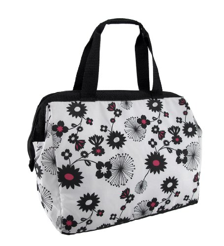 Thermos Insulated Black Floral Duffle