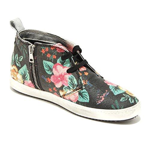 Nero Kent 9882g Donna Scarpa Scarpe fiori Shoes P448 Sneakers Women Flowers w44rzT