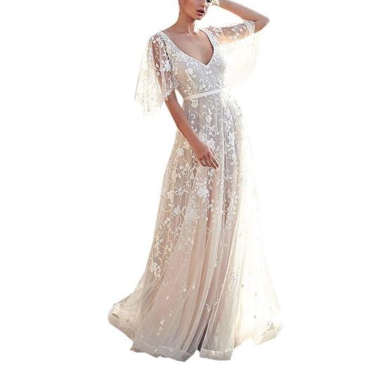 White V-Neck Short Flowy Dress