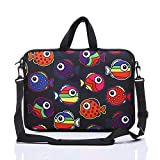 YIDA 15-Inch to 15.6-Inch Laptop Shoulder Sleeve Messenger Bag Case with Handle and extra side pocket For 14'' - 15.6'' inch Chromebook/Laptop/Macbook/Notebook/Tablet (black red)