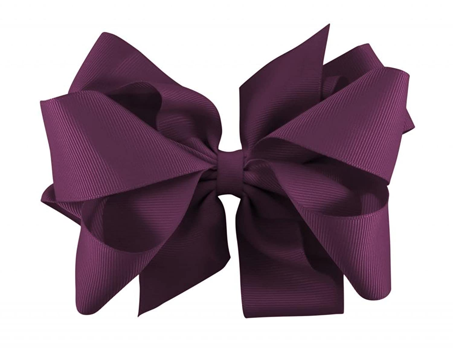 Zelda Matilda Girl's Signature 8 Loop Stunning Extra Large Grosgrain Boutique Hair Bow, Purple