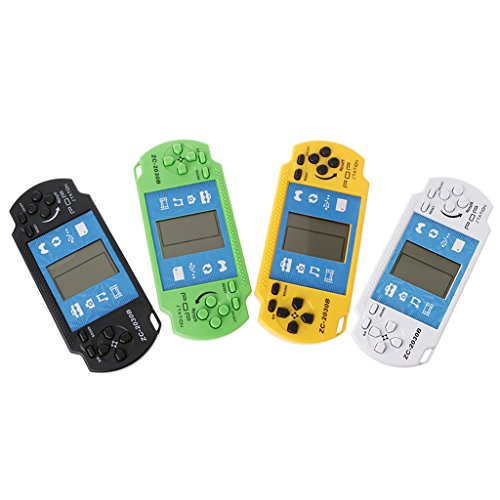 Richi Classic Electronic LCD Tetris Game Vintage Brick Handheld Arcade Puzzle Toys for (Vintage Handheld Electronic Games)
