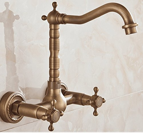 AWXJX Sink Taps European style copper Hot and cold bathroom Rotating bathroom Into the wall kitchen