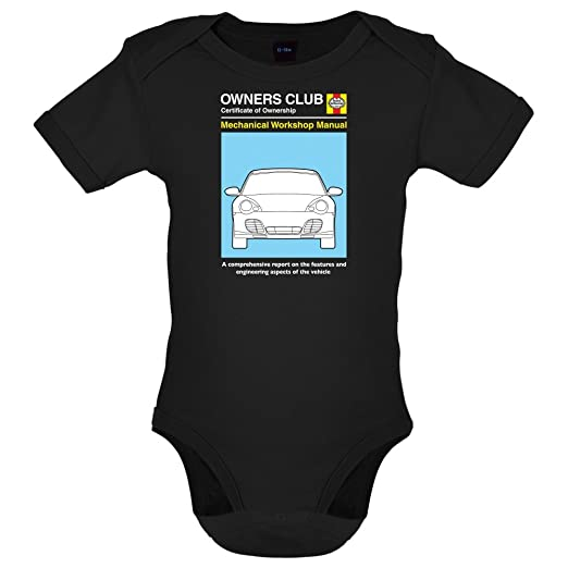 Dressdown Car Owners Manual 996 Turbo - Babygrow - Black - 0-3M