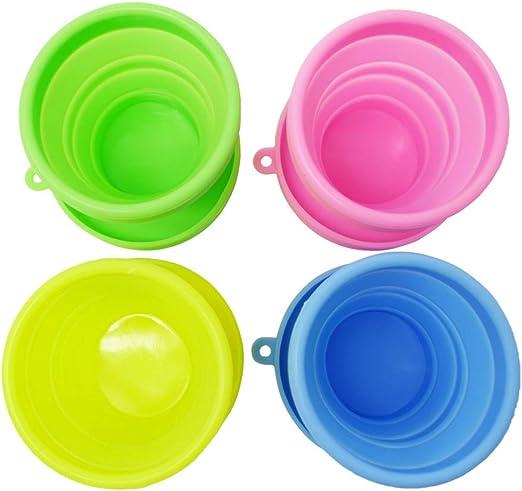 f/ácil de Transportar SPEQUIX 3pcs Silicona Plegable Vasos Vasos de Camping para Exteriores y Senderismo Plegable Taza Apta para lavavajillas Pop Up