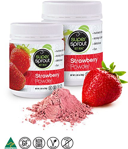 Super Sprout Strawberry Powder - 80 Grams (2.82 (Strawberry Fruit Juice)