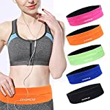 GEARWEAR Running Belt Waist Pack Bag for iPhone 8 X 7 Plus 6s Women and Men Runner Workout Belts Fanny Bag for Phone Samsung Galaxy Note s8 s7 s6 Plus for Wallking Fitness Jogging Orange
