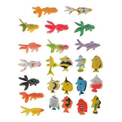 Small Angel Fish - Jili Online 24 Sea Animals Tropical Angel Fish Goldfish Small Figure Toy Ocean Creatures