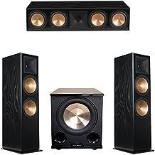 Klipsch 3.1 Black Ash System with 2 RF-7 III Floorstanding Speakers, 1 RC-64 III Center Speaker, 1 Klipsch PL-200II Subwoofer
