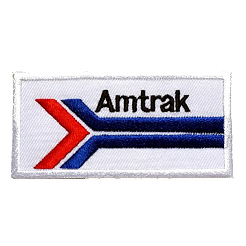 Amtrak Embroidered Iron On Patch  Sew On Car Logo Clothes Clothing Motorcycle