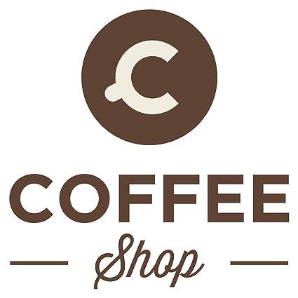 Pegatina de pared de cocinaCafetería motivos de café área de cocina bordadoras decoración de cocinas bebedores