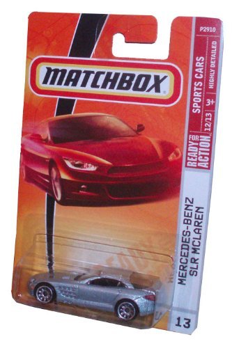 Matchbox 2008 MBX Sports Cars 1:64 Scale Die Cast Metal Car # 13 - Silver Luxury Sport Coupe Mercedes-Benz SLR McLaren