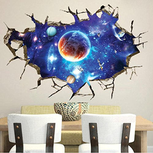 Iuhan® Fashion 3D Window View Wall Sticker Removable Vinyl Art Room Decal Mural Home Decoration