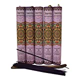 Premium Lavender Incense Sticks 5 Set Gift Pack with a Holder In Each Box, Includes 150 Sticks and Five Incense Burners