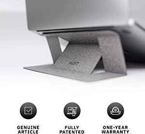 """MOFT Laptop Stand, Invisible Lightweight Laptop Computer Stand, Compatible with MacBook, Air, Pro, Tablets and Laptops Up to 15.6"""", Patented, Jean Grey"""