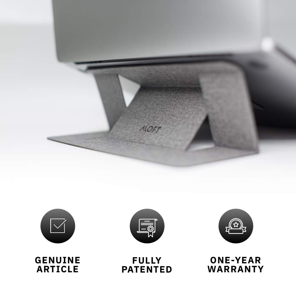 """MOFT Laptop Stand, Invisible Lightweight Laptop Computer Stand, Compatible with MacBook, Air, Pro, Tablets and Laptops up to 15.6"""", Patented (Silvery)"""