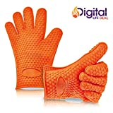 pull apart roasting rack - Cooking Gloves Heat Resistant Premium Insulated Grilling Gloves for Cooking, Pot Holders, Oven Mitt and BBQ Gloves (Orange)