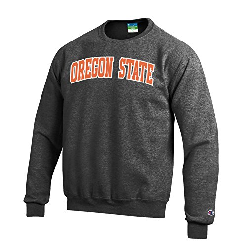 Oregon Crew Sweatshirt - Champion Men's Eco Powerblend Crew Neck Sweat Shirt, Gray, Small