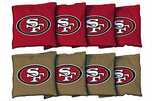 Victory Tailgate San Francisco 49ers NFL Cornhole Game Bag Set (8 Bags Included, Corn-Filled)