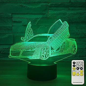 Amazon Com Insonjohy Sport Car 3d Optical Illusion Lamps Night