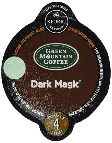 16 Count - Green Mountain Dark Magic Vue Cup Coffee For Keurig Vue Brewers