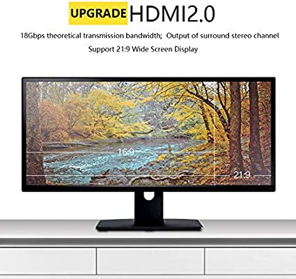HDR HDCP 2.2 ARC High Speed 18Gbps Slim and Flexible HDMI Active Optic Cable P/&A HDMI Fiber Optic Cable 30ft 4:4:4//4:2:2//4:2:0 3D HDMI 2.0 Cable Supports 4K@60Hz