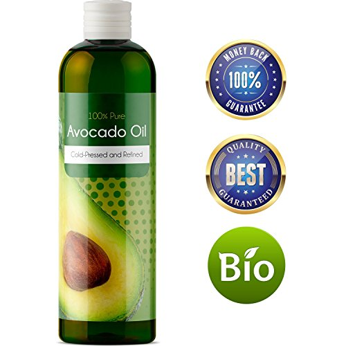 100% Pure Avocado Carrier Oil Massage Therapy Aromatherapy Sensual Massage Detox Healthy Strong Shiny Silky Hair Skin Care Moisturizer Vitamin A B D E and Oleic Acid Beauty and Health In Your Hands