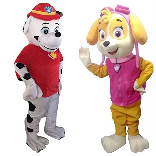 Girls Deluxe Skye Costumes (Lilgee Paw Patrol Marshall Skye Dog Adult Mascot Costume for Halloween Birthday Party Event Boy Girl Baby Adult Size L)