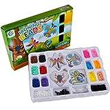 Kids Fuse Perler Beads Set - Wishtime 2017 New Design 14 Fun Colors Kids DIY Art Craft Kit 3000pcs Iron-On Beads For Boys Girls Best Birthday Gift