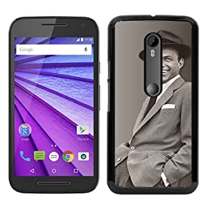Unique Motorola Moto G 3rd Skin Case ,Frank Sinatra black Moto G 3rd Gen Cover Fashionable And Durable Designed Phone Case