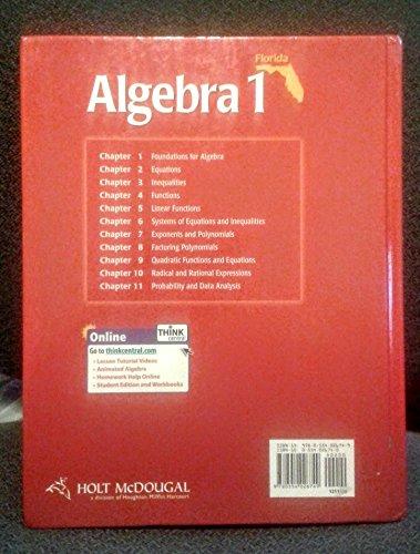 Holt mcdougal algebra 1 florida edition amazon books fandeluxe Image collections