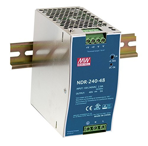 MW Mean Well NDR-240-24 24V 10A 240W Single Output Industrial DIN Rail Power - Mount Box Rail Din
